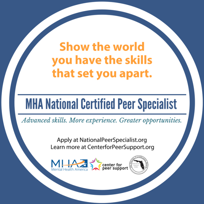 Mental Health America Announces National Certified Peer Specialist Credential